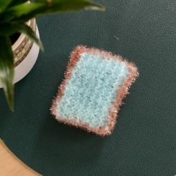 Eponge rectangulaire bleue...