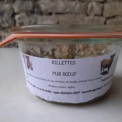 Rillettes pur bœuf - 180 g